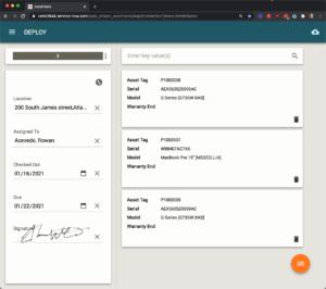 Asset tracking interface