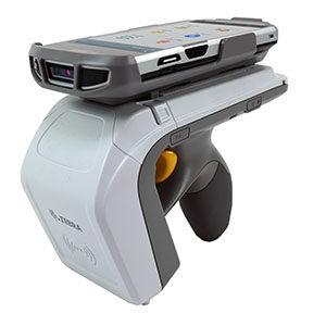 Zebra RFID RFD8500 scanner with sled